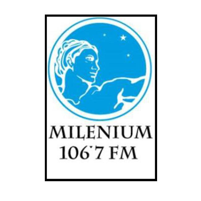 Logotipo de Milenium 106.7 FM