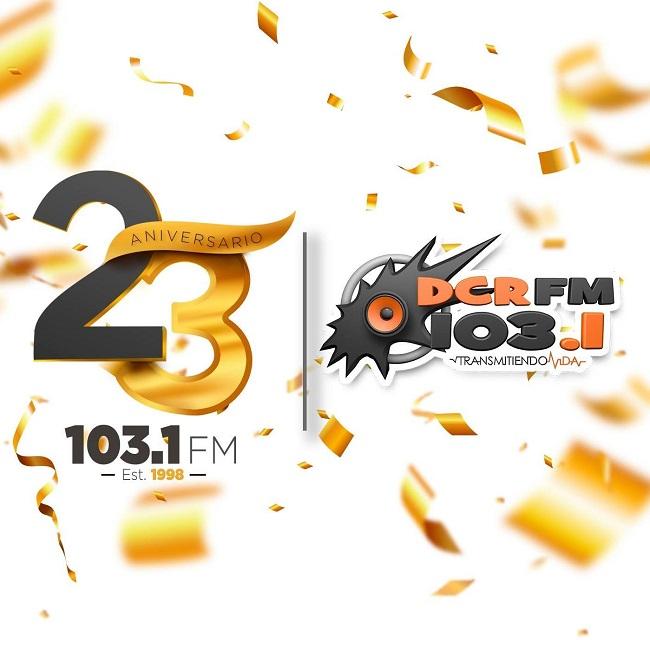 Logotipo de DCR 103.1 FM Juticalpa