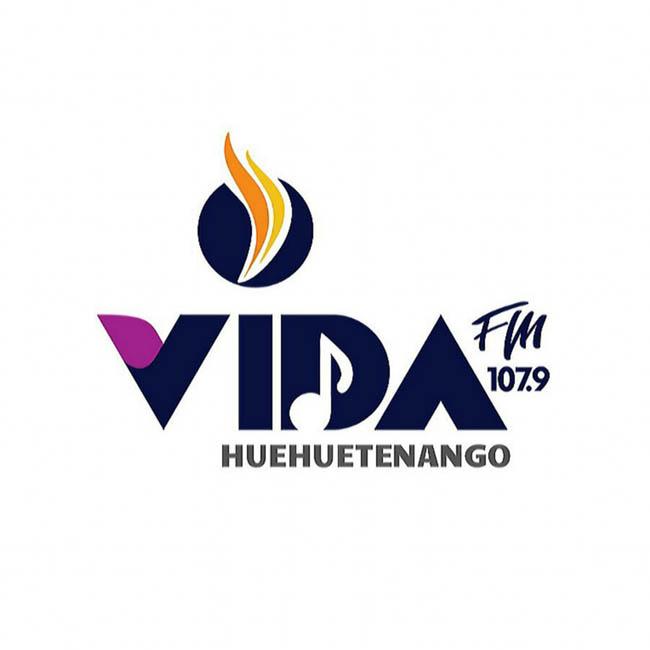 Logotipo de Vida FM 107.9 Huehue