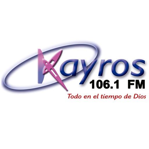 Logotipo de Kayros 106.1 FM Huehue