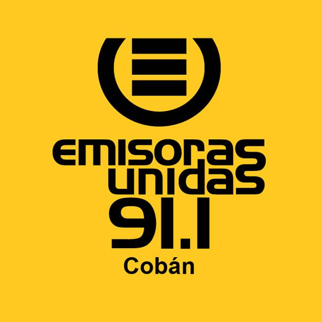 Logotipo de Emisoras Unidas Coban 91.1