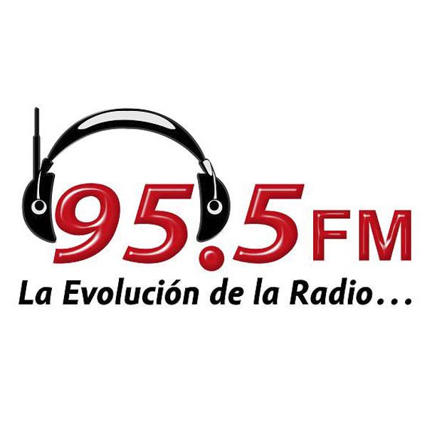 Logotipo de Calurosa y Evolución 95.5 FM