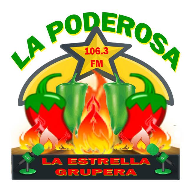 Logotipo de La Poderosa 106.3