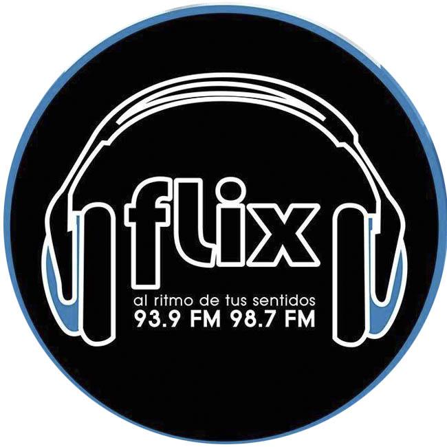 Logotipo de Flix 93.9 y 98.7 FM