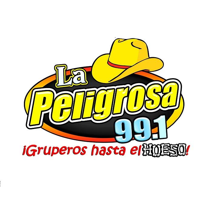Logotipo de La peligrosa 101.5 y 98.3