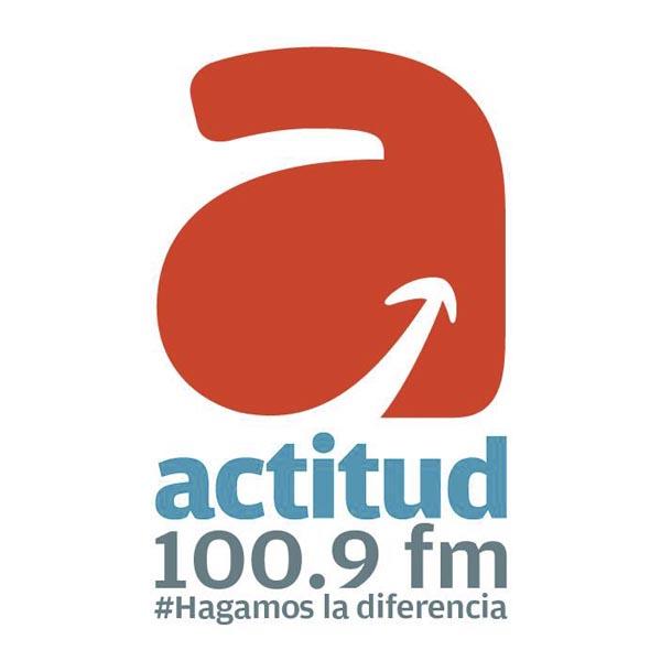 Logotipo de Actitud 100.9 FM