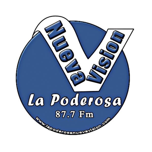 Logotipo de La poderosa nueva vision 87.7