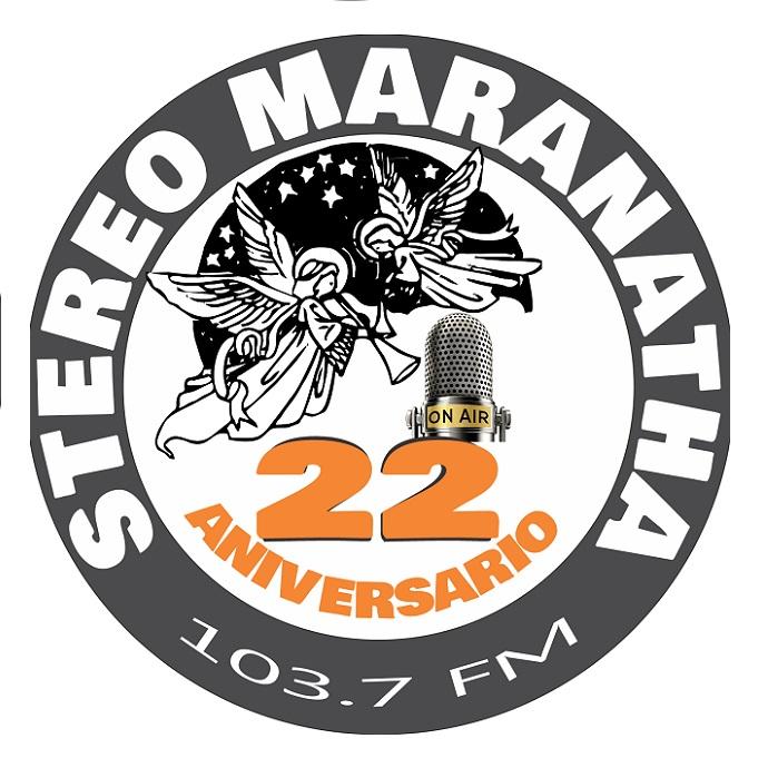 Logotipo de Estereo Maranatha 103.7 FM