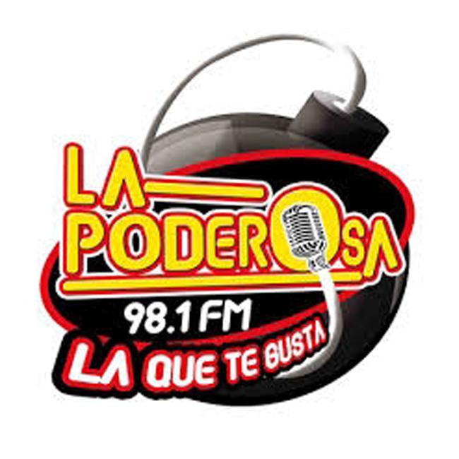 Logotipo de La Poderosa 98.1 FM