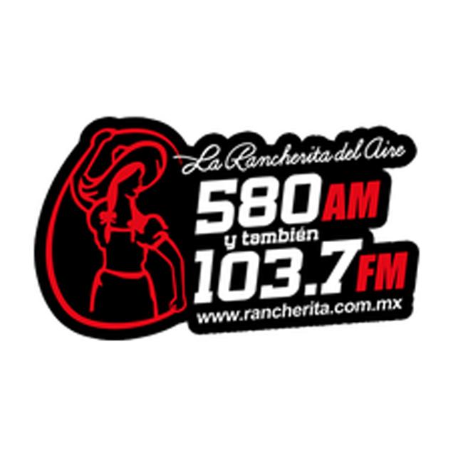 Logotipo de La Rancherita del Aire 580 AM y 103.7 FM