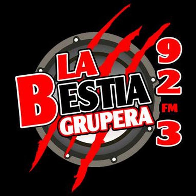 Logotipo de La Bestia Grupera Mexicali 92.3 FM