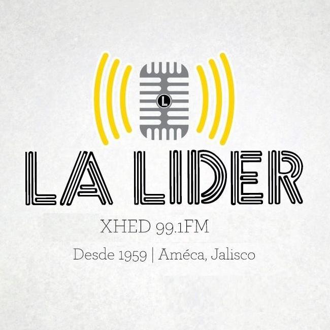 Logotipo de La Lider 99.1 FM Ameca