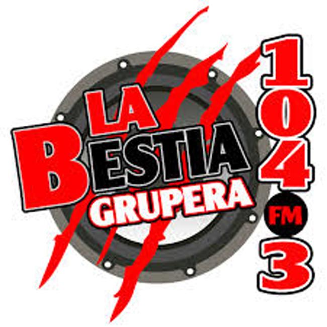 Logotipo de La Bestia Grupera 104.3 FM Huixtla