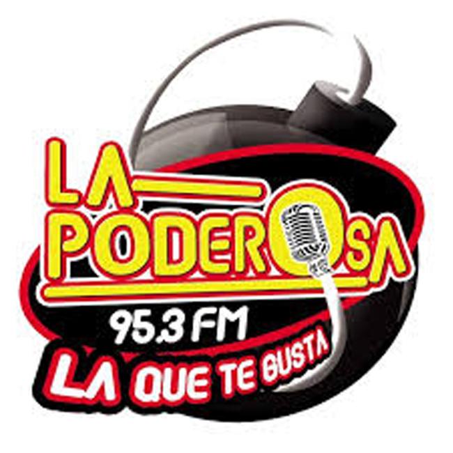 Logotipo de La Poderosa 95.3 FM