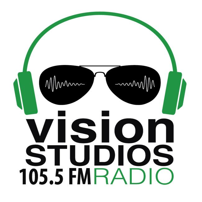 Logotipo de Vision Studios Radio 105.5 FM