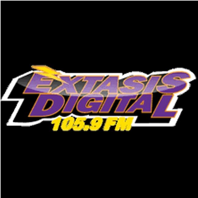 Logotipo de Éxtasis Digital 105.9 FM Guadalajara