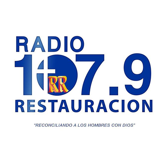 Logotipo de Radio Restauración 107.9 FM