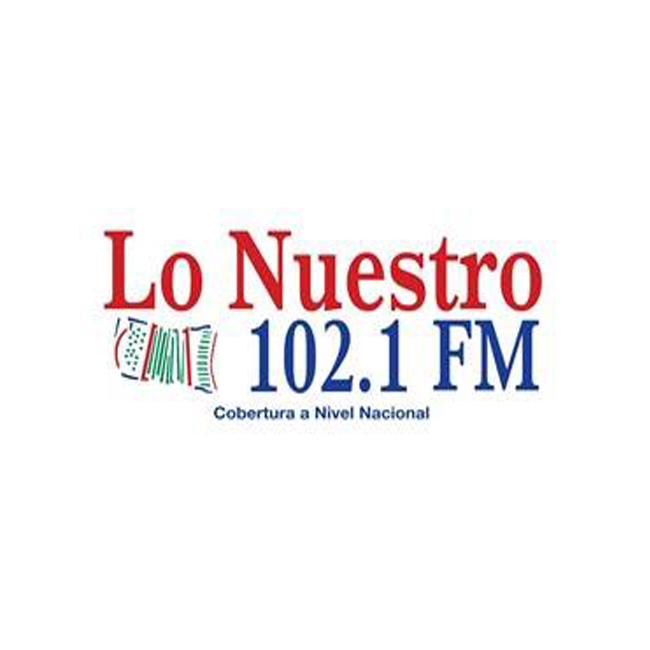 Logotipo de Lo Nuestro 102.1 FM