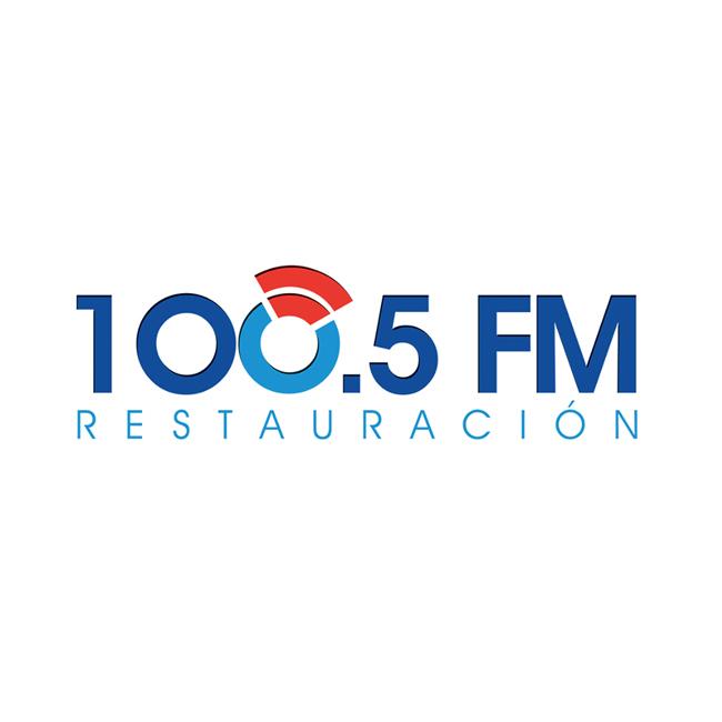 Logotipo de Radio Restauración 100.5 FM