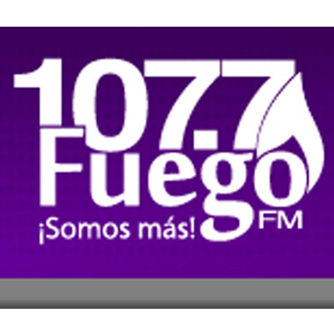 Logotipo de Radio Fuego 107.7 FM