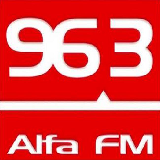 Logotipo de Alfa 96.3 FM